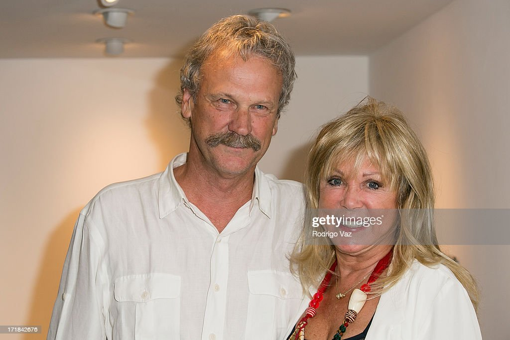 Gallery owner Peter Blachley (L) and photographer Pattie Boyd attend the Pattie Boyd: Newly Discovered Photo Exhibition at Morrison Hotel Gallery on June 28, 2013 in West Hollywood, California.