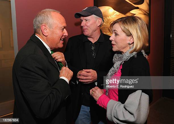Gallery owner Peter Fetterman producer John Fiedler and actress Bess Armstrong attend a party for the upcoming documentary The Hadza in Time in...