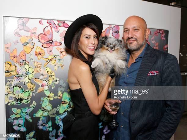 Gallery owner Steph Sebbag and guest attend the Michael Muller and Sage Vaughn exhibit presented by Untitled Projects Vernissage and Agolde at De Re...