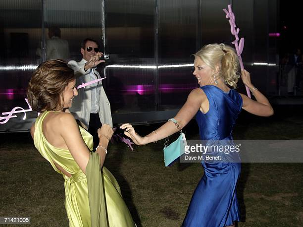 Gallery owner Tim Jefferies and Tamara Beckwith with guest attend The Serpentine Gallery Summer Party at the Serpentine Gallery on July 11 2006 in...
