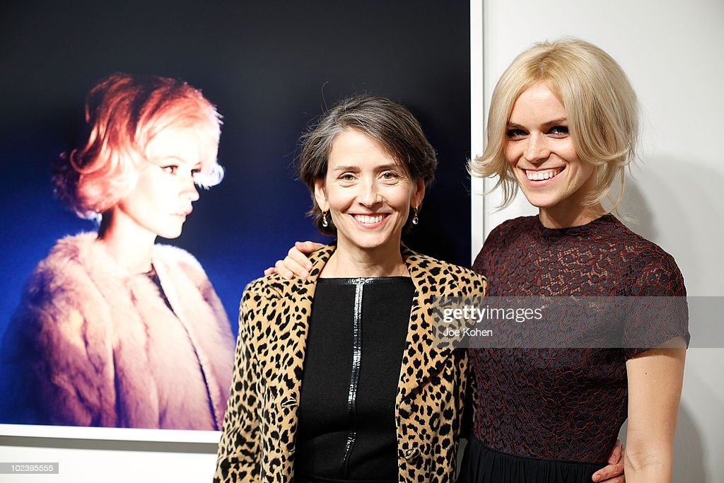 Gallery owner Yancey Richardson (L) and Artist Alex Prager attends Alex Prager's 'Week-End' exhibition opening at the Yancey Richardson Gallery on January 14, 2010 in New York City.