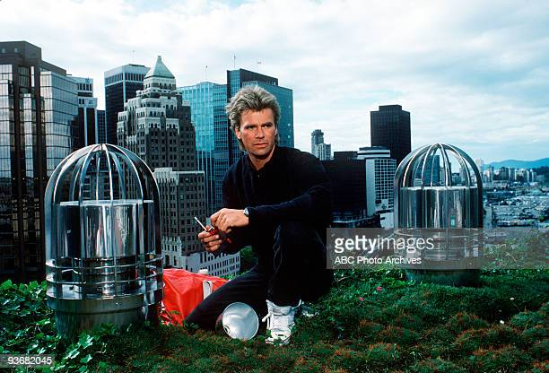 MACGYVER gallery Season Two 10/6/87 Richard Dean Anderson as MacGyver is a different kind of hero he doesn«t use weapons he«s afraid of heights and...