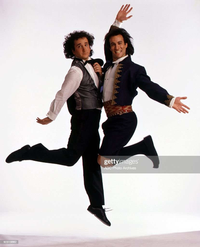 STRANGERS - gallery - Season Two - 1/20/87 Mark Linn-Baker (Larry), Bronson Pinchot (Balki) (Photo by ABC Photo Archives/ABC via Getty Images) MARK