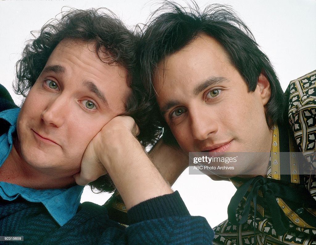 STRANGERS - gallery - Season Two - 9/17/86 Mark Linn-Baker (Larry), Bronson Pinchot (Balki) (Photo by ABC Photo Archives/ABC via Getty Images) MARK