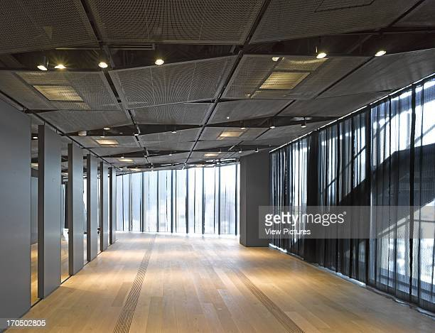 Gallery space on upper level Asakusa Tourist Infomation Centre Cultural Institution Asia Japan Kengo Kuma