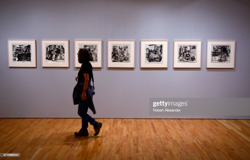 Editions Limited Gallery robert rauschenberg exhibit pictures getty images