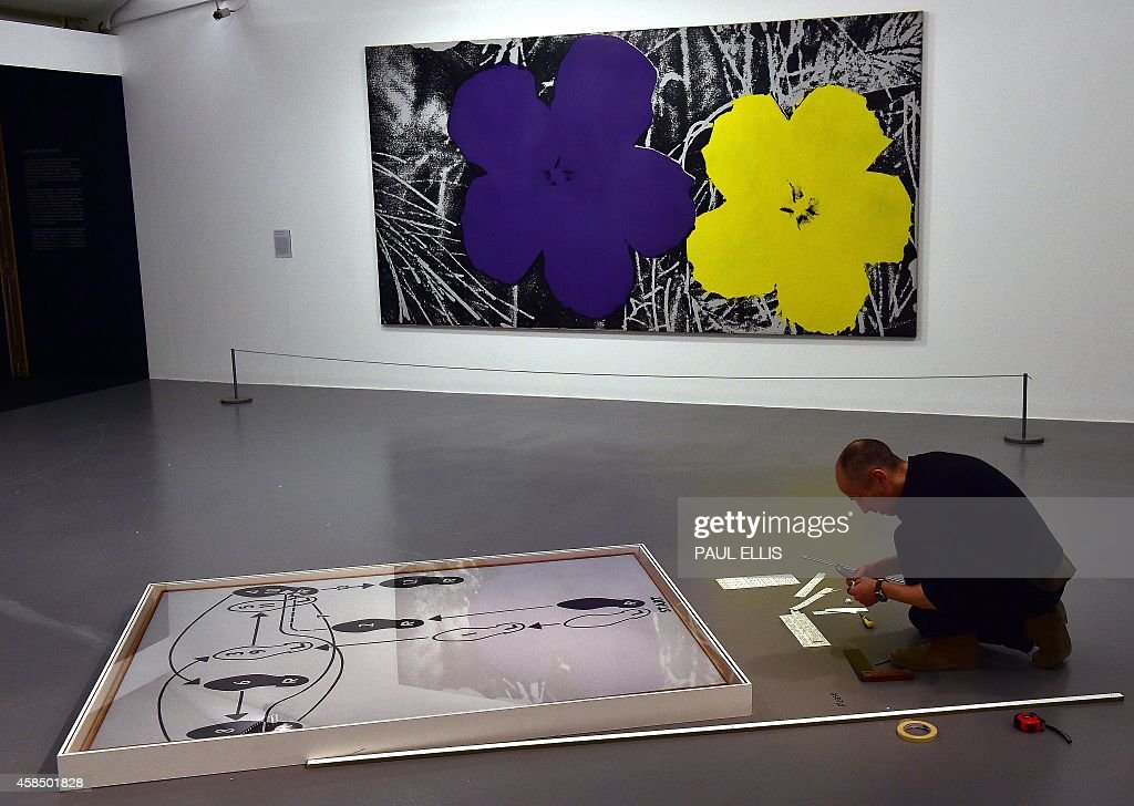 dance diagram andy warhol a gallery worker prepares andy warhol s artwork  dance diagram  at  worker prepares andy warhol s artwork