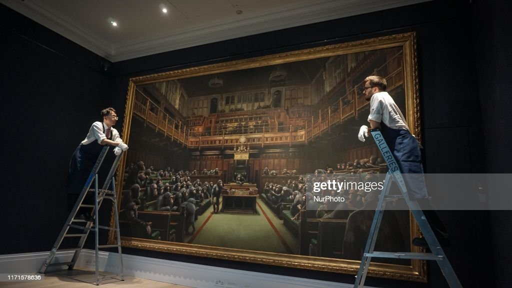 Photocall For Banksy's Devolved Parliament : News Photo