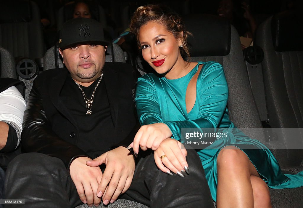 Galley Molina and Adrienne Bailon attend the 'I'm In Love With a Church Girl' screening at the Regal E-Walk Stadium 13 on October 18, 2013 in New York City.