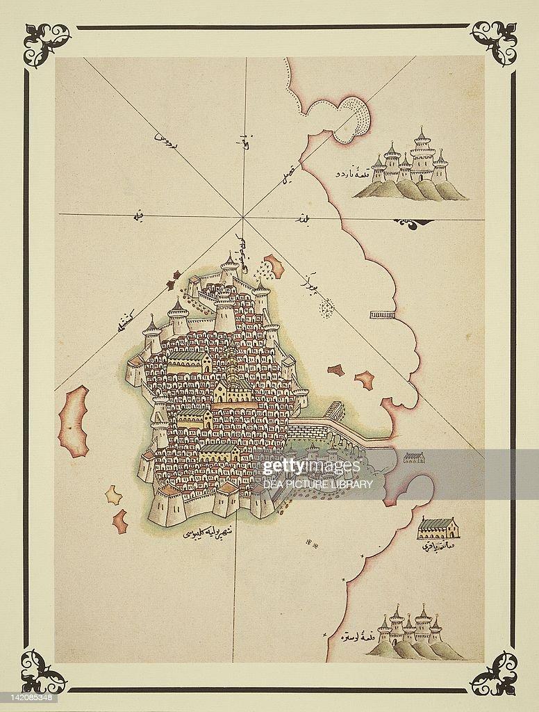 Cartina Geografica Italia Gallipoli.Gallipoli And The Coast Of Salento By Piri Reis Taken From The Foto Di Attualita Getty Images