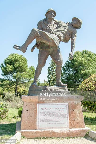 gallipoli staute. - anzac soldier stock pictures, royalty-free photos & images