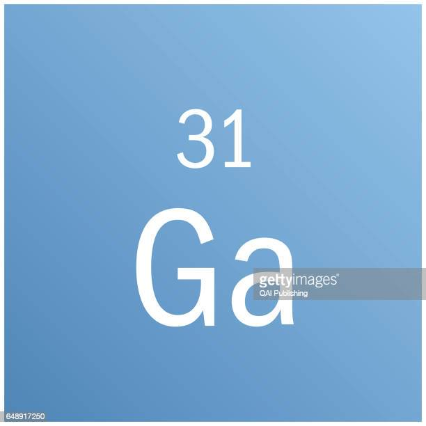 Gallium Rare metal that is used especially in hightemperature thermometers electroluminescent diodes and television screens