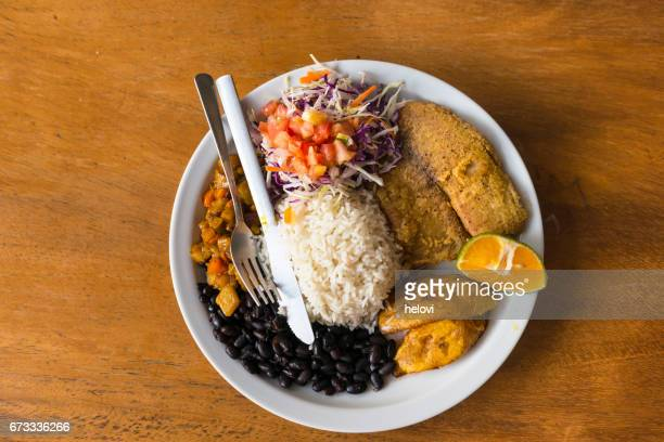 gallo pinto - costa rica stock photos and pictures