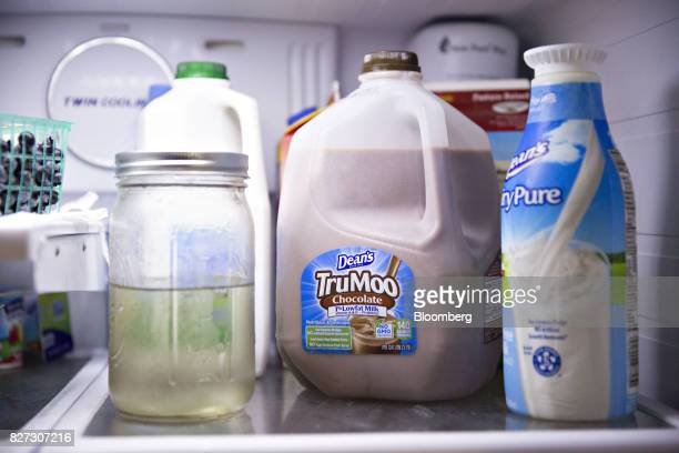 A gallon of Dean Foods Co Dean's TruMoo brand chocolate milk is arranged for a photograph in Tiskilwa Illinois US on Thursday Aug 3 2017 Dean Foods...