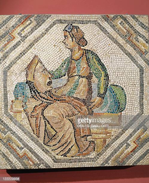 GalloRoman civilization 2nd3rd century AD Mosaic depicting Melpomene the Muse of Tragedy From a villa in Augusta Treverorum