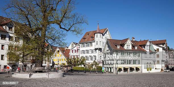 Gallusplatz square in the old town, St. Gallen, Canton of St. Gallen, Switzerland