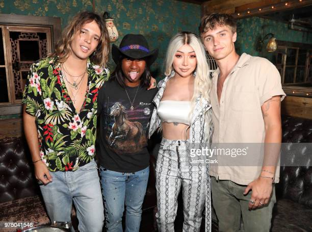 Galore Magazine Founders Jacob Dekat and Prince Peter Nikita Dragun and Hart Denton attend Galore SUMMER 2000's Fantasy Issue Party After Party at...