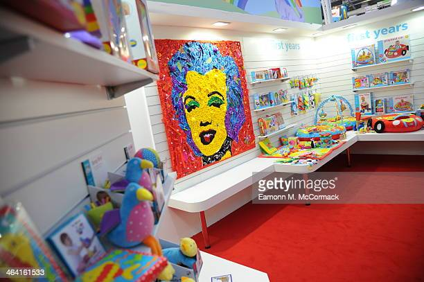 Galt Toys 5ft By 5ft Mosaic Masterpiece at Toy Fair Olympia Exhibition Centre on January 21 2014 in London England