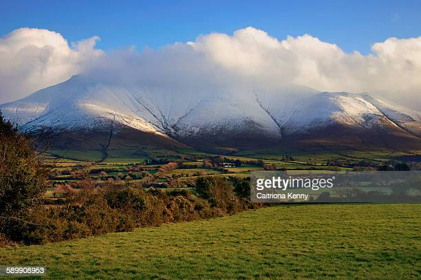 Galtee Mountains in snow