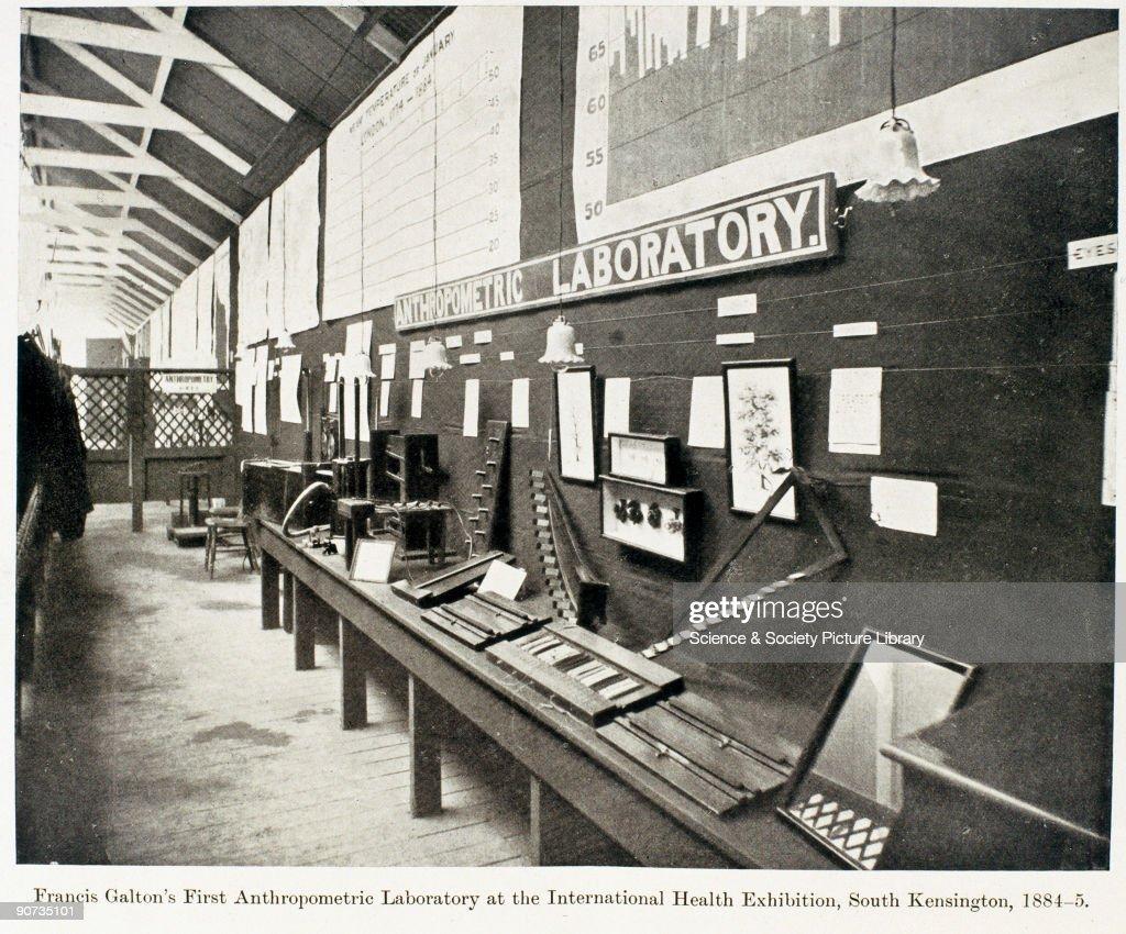 Francis Galtons First Athropometric Laboratory, 1884-1885. : News Photo