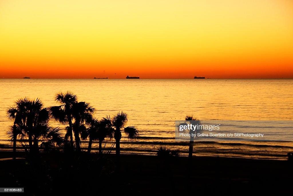 Galveston Texas sunrise : Stock Photo