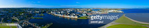 galway cityscape aerial view ireland - county galway stock pictures, royalty-free photos & images