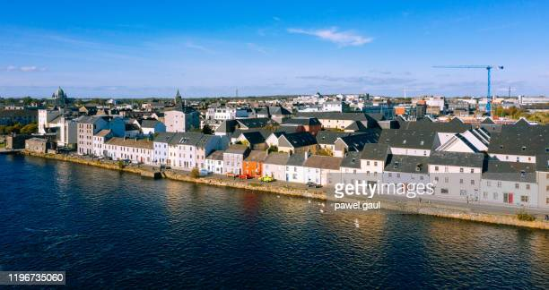 galway cityscape aerial view ireland - galway stock pictures, royalty-free photos & images