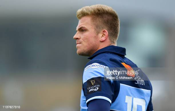 Galway , Ireland - 13 April 2019; Gareth Anscombe of Cardiff Blues during the Guinness PRO14 Round 20 match between Connacht and Cardiff Blues at The...