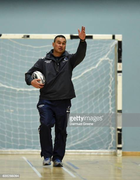 Galway Ireland 14 February 2017 Connacht head coach Pat Lam during squad training at the Kingfisher Gym in Galway