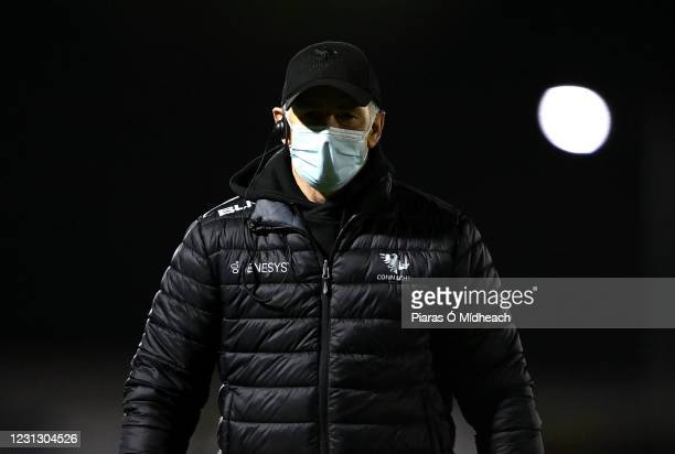 Galway , Ireland - 20 February 2021; Connacht Head Coach Andy Friend before the Guinness PRO14 match between Connacht and Cardiff Blues at The...