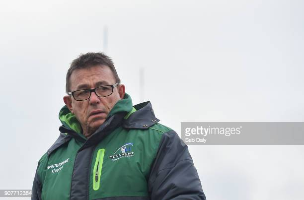 Galway Ireland 20 January 2018 Connacht head coach Kieran Keane during the European Rugby Challenge Cup Pool 5 Round 6 match between Connacht and...