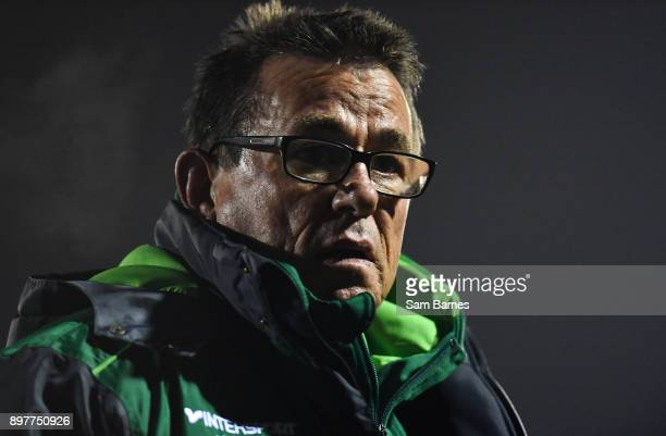 Galway Ireland 23 December 2017 Connacht head coach Kieran Keane during the Guinness PRO14 Round 11 match between Connacht and Ulster at the...