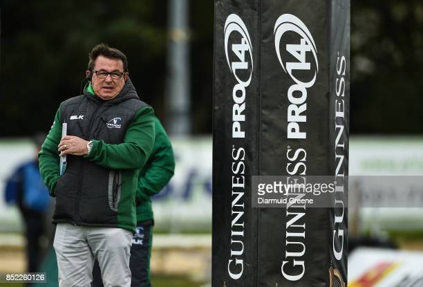 Galway Ireland 23 September 2017 Connacht head coach Kieran Keane ahead of the Guinness PRO14 Round 4 match between Connacht and Cardiff Blues at The...
