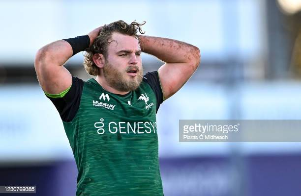 Galway , Ireland - 24 January 2021; Finlay Bealham of Connacht during the Guinness PRO14 match between Connacht and Ospreys at The Sportsground in...