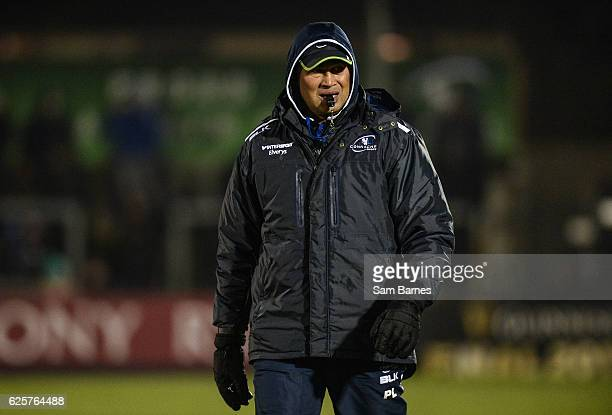Galway Ireland 25 November 2016 Connacht head coach Pat Lam ahead of the Guinness PRO12 Round 9 match between Connacht and Cardiff Blues at the...