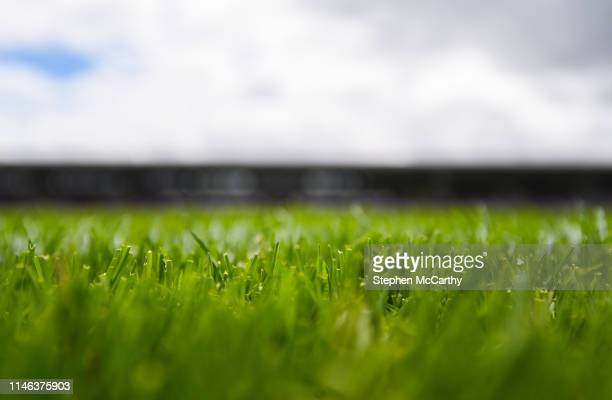 Galway Ireland 26 May 2019 A detailed view of the grass at Pearse Stadium prior to the Leinster GAA Hurling Senior Championship Round 3A match...