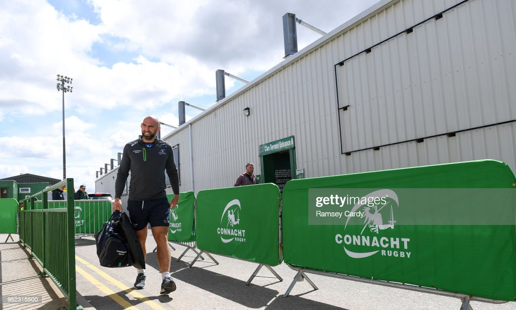 Galway , Ireland - 28 April 2018; Connacht captain John Muldoon arrives ahead of the Guinness PRO14 Round 21 match between Connacht and Leinster at the Sportsground in Galway.