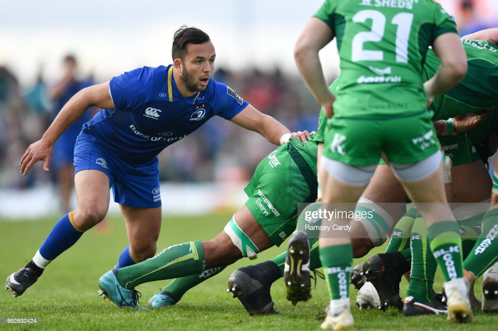 Galway , Ireland - 28 April 2018; Jamison Gibson-Park of Leinster during the Guinness PRO14 Round 21 match between Connacht and Leinster at the Sportsground in Galway.
