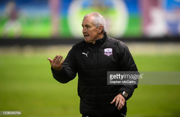 Galway , Ireland - 28 August 2020; Galway United manager John Caulfield during the Extra.ie FAI Cup Second Round match between Galway United and...