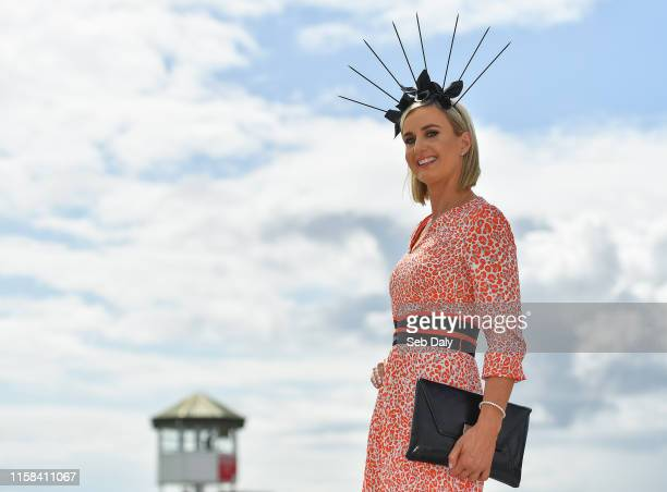 Galway Ireland 29 July 2019 Racegoer Mary Davin from Galway poses for a photograph prior to racing on Day One of the Galway Races Summer Festival...