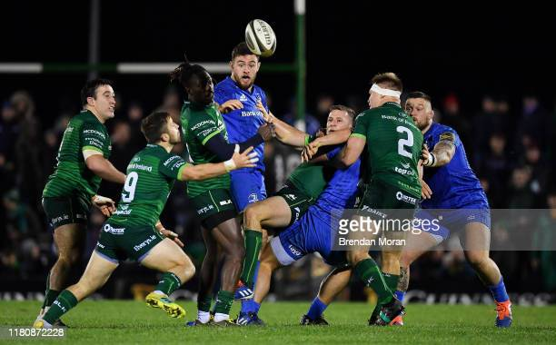 Galway Ireland 8 November 2019 Connacht players Denis Buckley Caolin Blade Niyi Adeolokun Jack Carty and Tom McCartney compete for a loose ball with...