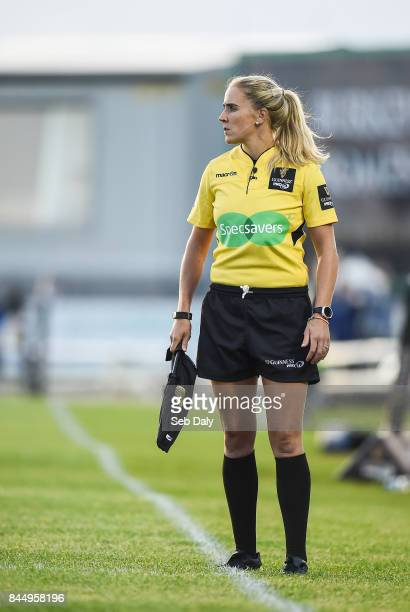 Galway Ireland 9 September 2017 Assistant referee Joy Neville during the Guinness PRO14 Round 2 match between Connacht and Southern Kings at The...