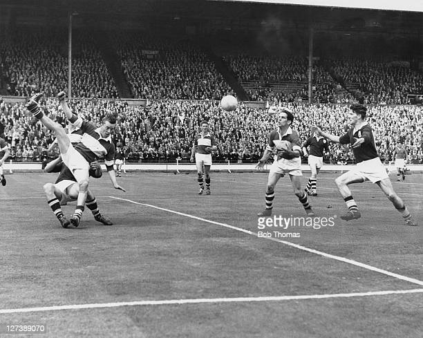 Galway meets Derry in the finals of Gaelic Football and Hurling at Wembley Stadium London 24th May 1958