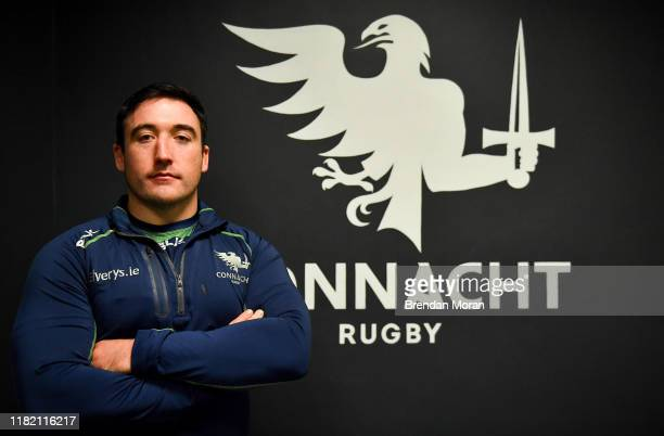 GalwayDenis Buckley Ireland 13 November 2019 Denis Buckley poses for a portrait after a Connacht Rugby press conference at The Sportsground in Galway