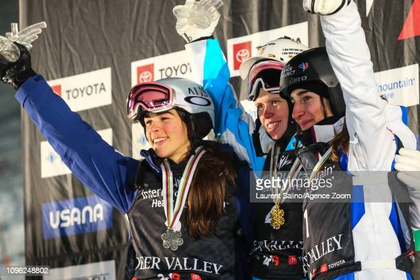Galys wins the gold medal Jakara Anthony of Australia wins the silver medal Perrine Laffont of France wins the bronze medal during the FIS World...