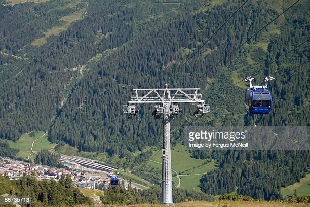 Galzig-bahn cable car above St Anton