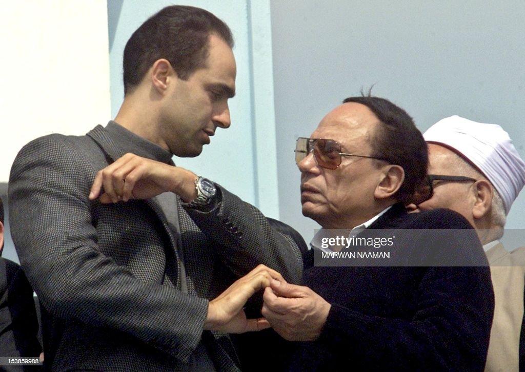 gamal mubarak son of egyptian president hosni mubarak speaks to