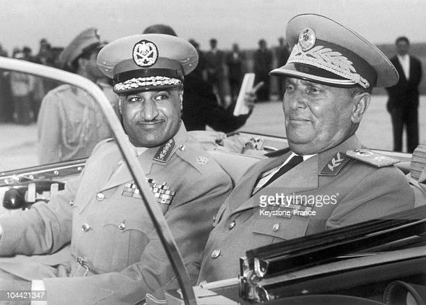 Gamal Nasser And Josip Broz Tito Leaving Belgrade'S Airport Around 1950