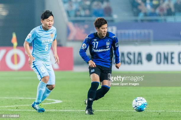 Gamba Osaka Forward Takagi Akito in action during the AFC Champions League 2017 Group H match between Jiangsu FC vs vs Gamba Osaka at the Nanjing...