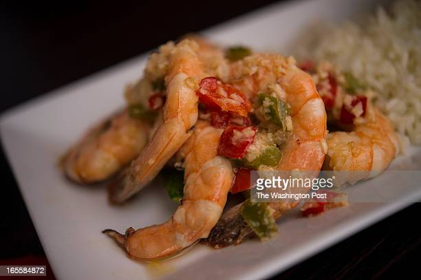 Gambas Al Ajillo served with black beans and rice for $1695 is on the menu at Little Ricky's in Washington DC on Thursday March 28 2013 The American...